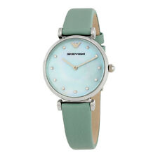 Armani Retro Sea Blue Mother Of Pearl Dial Ladies Watch AR1959