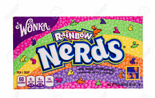 LOT OF 2 WILLY WONKA NERDS RAINBOW THEATER SIZE BOXES 5 OZ SUGAR CANDY