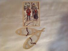 "For 15""-18"" Girl Doll Clothes SNOW SHOES and KIRSTEN'S POSTCARD  New Condition"