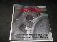 DeVilbiss Air Power Company Oillube Portable and Gas Compressor Repair manual