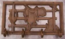 Robe Coat Hook Weathered cast iron Saddle and Fence NEW