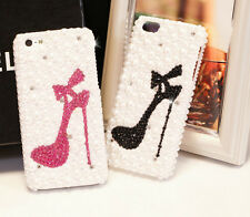 Fashion Bling Pearl Crystal High-Heel-Shoe Case for Apple iPhone 5s 5