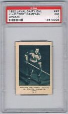 1952 Laval Dairy QHL Update Hockey Card Sherbrooke J.C. Tod Campeau Graded PSA 7