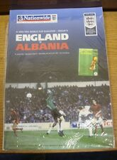 05/09/2001 England v Albania [At Newcastle United] .  We are pleased to be able