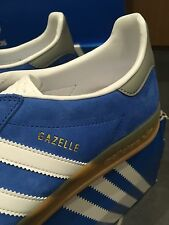 Adidas Gazelle Indoor Blue Suede 10 OG Indoor Super Hamburg Football Terrace 80s