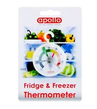 APOLLO ANALOGUE DIAL FACE FRIDGE FREEZER THERMOMETER WITH HANGING LOOP
