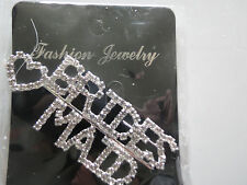 Clear Brides Maid Pin Brooch For Bridal Shower Wedding Party **Great Gift**