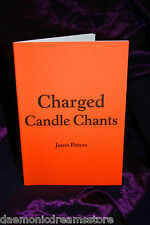 CHARGED CANDLE CHANTS. Janet Peters Finbarr Books Magick Occult Grimoire