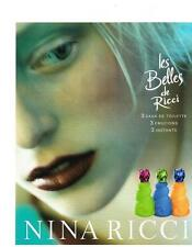 PUBLICITE ADVERTISING  2001  NINA RICCI  LES BELLES  eaux de toilettes