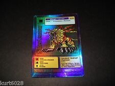 BANDAI DIGIMON HOLO CARD ST-34 SABERLEOMON -FREE COMBINE SHIP-GREAT COND. 1ST ED