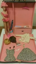 Vintage 1960s Fashion queen Barbie with case and clothes