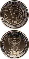 SÜDAFRIKA/SOUTH AFRICA 5 Rand 2014 UNC '20 Years of Freedom' Bimetall neu!