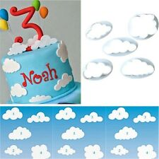 5 Cloud Fondant SugarCraft Cake Cookie  Cutter Plunger Pastry Mold plastic