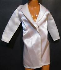 barbie clothes-Ken Doll Ivory off-White Long Wedding Suit Jacket Snap Front