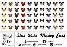Star Wars Mickey Ears Waterslide Nail Decals - 50pc - BNA-10172