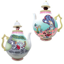 Walt Disney Alice In Wonderland Tea Party Scene Ceramic 35 oz Teapot NEW UNUSED