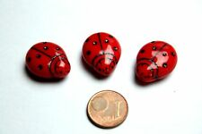 3 x grande Coccinelle parierait/Lady Bird Beads