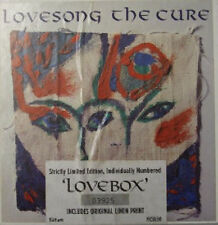 "The Cure, Lovesong, NEW Numbered Ltd edition 7"" single in box with linen print"