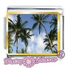 Pic PALM TREES - Daisy Charms by JSC Fits Classic Size Italian Charm Bracelet