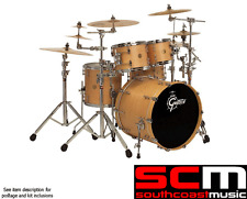 RRP$5500 GRETSCH 5PCE NEW CLASSIC DRUM KIT WITH GIBRALTAR HARDWARE SATIN NATURAL