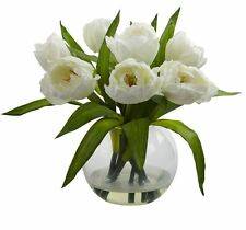 Home Decor Natural Artificial Tulip Flower Arrangement Centerpiece with Vase