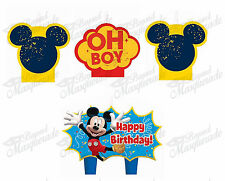 (4ct) Disney Mickey Mouse Birthday Boys Decorations Cake Topper Candles Set