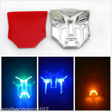 Transformers Autobots Emblem Badge Sticker Car Solar Power LED Flash Strobe Lamp