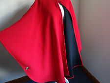 Absolutely stunning Red wool and cashmere designer cape. Warm cloak/shawl