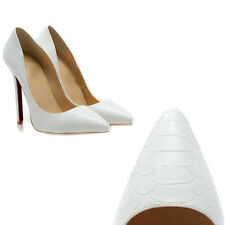 Women's Shoes Closed Toe High Heels Pointed Slender Leather Pumps For Party
