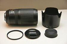NIKON ED VR Camera Telephoto Zoom Lens AF-S NIKKOR 70-300mm 1:4.5-5.6G - GREAT!