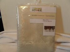 "BRAND NEW Never Opened The Home Store Window Valance, 60"" by 19"", Cream/Ivory"