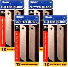 48 pcs Cutter Blade 18mm Snap Off Box Utility Knife Razor Refill Replacement T17