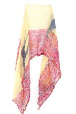 LADIES UNQIUE HIPPY THEME RETRO COLORFUL UNQIUE FLORAL GROOVY SCARF(MS9)