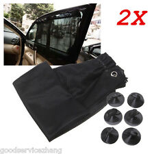 2pcs Car Window Sun Shade Foldable Windshield Full Shield Visor Block Cover