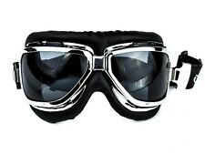 Dark Black Lens Classic Aviator Goggles Motorcycle Biker Riding Glasses Cosplay