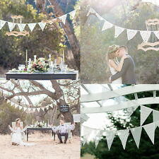 3.2m White Lace Banner Bunting 11 Flags Party Birthday Wedding Decor Ceremony