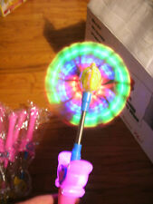 New LIGHT UP FLASHING Swirling End BUTTERFLY WAND that Plays Music - Party -Kids