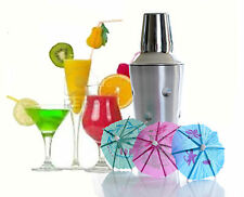 S / STEEL cocktail shaker 500ml SET BAR ACCESSORI + 36 libera Cocktail OMBRELLI