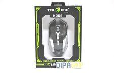 Mouse Gaming Ottico TeKone M009 Usb con Filo 2400dpi Nero Pc Notebook hsb