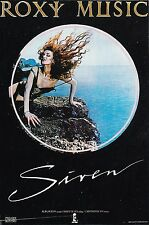 ROXY MUSIC/ SIREN 1975 *RARE ORIGINAL ISLAND RECORDS POSTER* POP ROCK