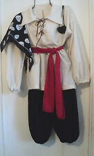 BOY'S PIRATE OUTFIT, SCA ,LARP,  PIRATE, COSPLAY  SIZE 3-5