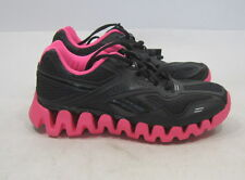 Reebok Women's 'Realflex Run' Black and Pink Running Shoes 15217404 SIZE  8.5