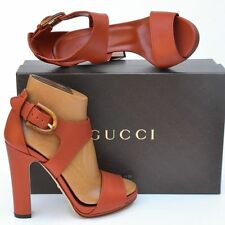 GUCCI New sz 38 - 8 Designer Authentic Bamboo Womens Sandals Heels Shoes $795