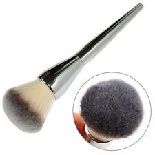 Pro Makeup Face Blush Powder Silver Handle Cosmetic Foundation Large Brush Tool