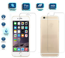 Genuine Clear Front & Back Tempered Glass Screen Protector For iPhone 6S Plus UK