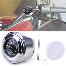 """7/8"""" 1"""" Handlebar Thermometer Dial Temp fit Motorcycle Motorbike"""