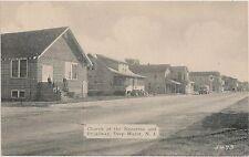 Church of the Nazarene and Broadway in Deep Water NJ Postcard Texaco