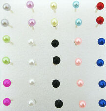 fashion vintage Wholesale lots 15pairs ball colorful earrings stud jewelry