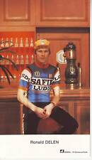 CYCLISME carte RONALD DELEN  (equipe SAFIR LUDO ) 1980