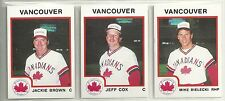 1987 Pro Cards Vancouver Canadians 25-card Minor League Team Set Mike Bielecki